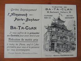 Calendrier Publicitaire Bataclan 1910 - Klein Formaat: 1901-20