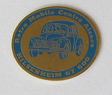1 Pin's RETRO MOBILE CENTER ALSACE - HILSENHEIM 67600 - Pin's