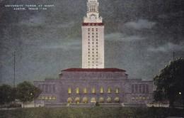 UNIVERSITY TOWER AT NIGHT. AUSTIN, TEXAS. AUSTIN NEWS AGENCY. CIRCULEE 1953 A BUENOS AIRES, AUTRES MARQUES - BLEUP - Austin