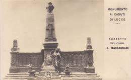Lecce - Monumento Ai Caduti - Non Viaggiata - Lecce