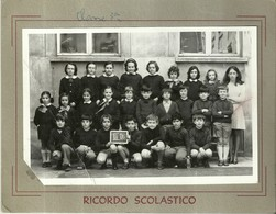 """3981 """"RICORDO SCOLASTICO-III-D - LUOGO ED ANNO IMPRECISATI"""" FOTO ORIGINALE - Persone Identificate"""