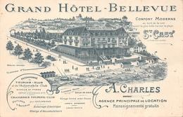 """SAINT CAST  - Carte De Visite Publicitaire """" Grand Hotel Bellevue """"  A.CHARLES - Saint-Cast-le-Guildo"""