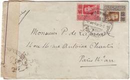 SIAM LETTRE CENSUREE DE BANGKOK Pour La France 1919 , RARE §§§§§ - Siam