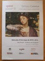 CATULLI CARMINA. CONCIERTO DE COROS Y ORQUESTA. SALA MOZART - AUDITORIO DE ZARAGOZA - ESPAÑA. - Programas