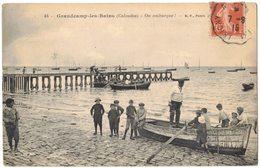 CALVADOS GRANDCAMP LES BAINS : ON EMBARQUE - Barques Enfants - Circulé ISIGNY SEMEUSE AMBULANT - France