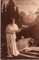 Überbringe Meine Grüsse 1919 Frau Mit Brieftauben - Ansichtskarten