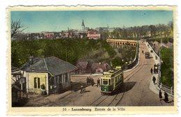 CPSM Colorisée Glacée Luxembourg Ville Entrée De La Ville Animée Tramway éditeur L' Heembeekoise Bruxelles N°16 - Luxemburgo - Ciudad