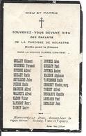Souvenez Vous Des Enfants De La Paroisse De Souastre Morts Pour La France 1914 1918 - Décès