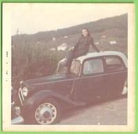 Portugal - REAL PHOTO - Senhora Em Cima Do Taxi - Citroen - Old Cars - Voitures - France - Taxi & Fiacre