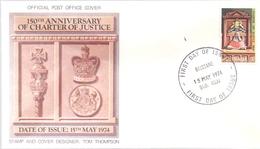AUSTRALIA FDC ANNIVERSARY OF CHARTER OF JUSTICE 1974 BRISBANE   COVER  (MAGG190133) - Primo Giorno D'emissione (FDC)