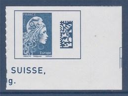 = Marianne L'Engagée 2018 Coin Bas De Feuille Droit Europe N°1603 Neuf Type Adhésif - 2018-... Marianne L'Engagée