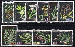 CI1243 - VENEZUELA 1962, Posta Aerea Serie Yvert N. 755/764  ***  MNH. Ordinaria Orchidee - Venezuela