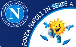 Carte Prepaid Italie Football Calcio Forza Napoli, Code Non Gratté - [2] Sim Cards, Prepaid & Refills