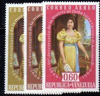 CI1247 - VENEZUELA 1960, Posta Aerea Serie Yvert N. 719/721  ***  MNH. Arismendi - Venezuela