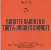 BRIGITTE BARDOT.... DIT TOUT A JACQUES CHANCEL - FLEXI - Spezialformate