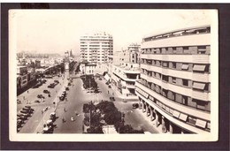 CPSM. Maroc. Casablanca. Place De France. Tour De L'Horloge. Voitures Anciennes. Circulé. Etat Moyen. - Casablanca