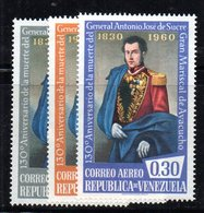 CI1260 - VENEZUELA 1960, Posta Aerea Serie Yvert N. 725/727  ***  MNH. Sucre - Venezuela