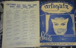 Partition - Arlequin - Sheila - 1969 - Musique & Instruments