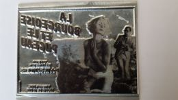 PLAQUE MATRICE POUR TAMPON FILM PUBLICITE LA BOURGEOISE ET LE PUCEAU  8.50 X 7.50 CM - Advertising (Porcelain) Signs