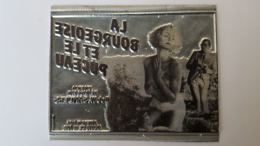 PLAQUE MATRICE POUR TAMPON FILM PUBLICITE LA BOURGEOISE ET LE PUCEAU  11.50 X 9 CM - Plaques Publicitaires