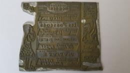 PLAQUE MATRICE   PUBLICITE  LES PRODUCTIONS GEORGES HERBERT THEATRALES 9.50 X 8.50 CM - Advertising (Porcelain) Signs