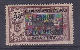 """ETABLISSEMENTS FRANCAIS DANS L'INDE N°130*  Surchargé """" FRANCE LIBRE"""" - Inde (1892-1954)"""