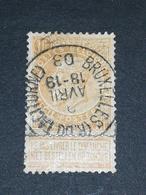 COB N ° 65 Oblitération Bruxelles (R. Du Taciturne) 03 - 1893-1900 Fine Barbe