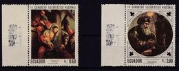Ecuador.1967** MI: 1338 Hl. Familie Von Bernardo De Rodriguez + 1342 Heiliger Von Migue De Santiago - Equateur