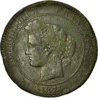 Monnaie, France, Cérès, 10 Centimes, 1874, Bordeaux, TB, Bronze, Gadoury:265a - France