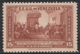 Venezuela 1940 - C142, 15cts - AIR MAIL - Union Of Grand Colombia - MNH - Venezuela