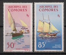 Comores - 1964 - Poste Aérienne PA N°Yv. 10 à 11 - Bateaux / Ships - Neuf Luxe ** / MNH / Postfrisch - Comoro Islands (1950-1975)