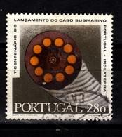 Portugal,1970- 1° Centenario Lancamento Do Cabo Submarino Portugal-Inglaterra. CancelledNH. - Oblitérés