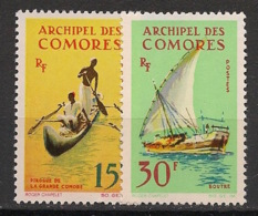 Comores - 1964 - N°Yv. 33 à 34 - Bateaux / Ships - Neuf Luxe ** / MNH / Postfrisch - Unused Stamps