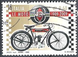 Italia, 2009 Moto Gilera, 0,60 €  # Sassone 3094 - Michel 3303 - Scott 2934  USATO - 6. 1946-.. Repubblica