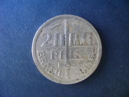 """BRAZIL / BRASIL - COIN """"2000 REIS"""", SILVER / PRATA , 1935 - Brasilien"""