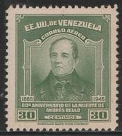Venezuela 1946 - C216, 30cta - AIR MAIL - 80th Death Anniv Of Andres Bello - MNH - Venezuela