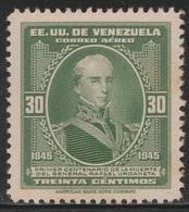 Venezuela 1946 - C217, 30cta - AIR MAIL - Death Cent Of  Rafael Urdaneta - MNH - Venezuela