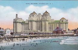 HOTEL TRAYMORE, ATLANTIC CITY. NJ. NATURAL COLOR POST CARD. CPA CIRCA 1940s - BLEUP - Atlantic City