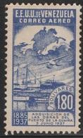 Venezuela 1937 - C65, 1.80bs - AIR MAIL - Guaira Harbor - MNH - Venezuela