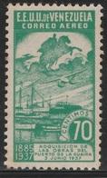 Venezuela 1937 - C64, 70cts - AIR MAIL - Guaira Harbor - MNH - Venezuela