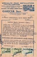 T.F Impôt Du Timbre Algérie Marianne D'Alger 1 F & 2 F X 2 Sur Quittance Oran 1945 - Otros