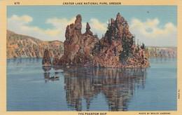 THE PHANTOM SHIP. CRATER LAKE NATIONAL PARK, OREGON. CT ART COLOR. CPA CIRCA 1950s - BLEUP - Etats-Unis