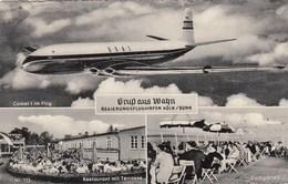 AEROPORTO-AEROPORT-AIRPORT-FLUGHAFEN- GRUS AUS WAHN REIGERUNGSFLUGHAFEN KOLN/BONN-CARTOLINA VIAGGIATA IL 19-7-958 - Aérodromes
