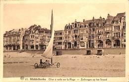 Middelkerke - Char à Voile Sur La Plage - Zeilwagen Op Het Strand (animation) - Middelkerke