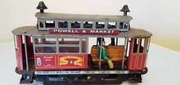TRAMWAY ANCIEN EN TOLE AVEC MECANISME. POWEL ET MARKET-SAN-FRANCISCO-MUNICIPAL RAILWAY - Toy Memorabilia