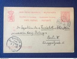 Luxembourg -  Postkarte 1892 Nach Berlin - Bestellt Vom Postamte 9 - Luxemburg - Stadt