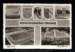 12171-GERMAN EMPIRE-PROPAGANDA POSTCARD NSDAP.Reichsparteitag NURNBERG..WWII.DEUTSCHES REICH.POSTKARTE.carte Postale - Storia Postale