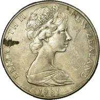 Monnaie, Nouvelle-Zélande, Elizabeth II, 50 Cents, 1981, TB+, Copper-nickel - Nouvelle-Zélande