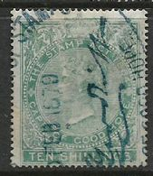 South Africa, CoGH, Revenue, VR, 1873, 10/=, Crown CC Wmk Perf 15.5 X 15, Used - South Africa (...-1961)