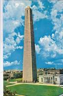 BUNKER HILL MONUMENT. CHARLESTOWN, MASSACHUSETTS. PLASTICHROME. CPA CIRCA 1950s - BLEUP - Etats-Unis